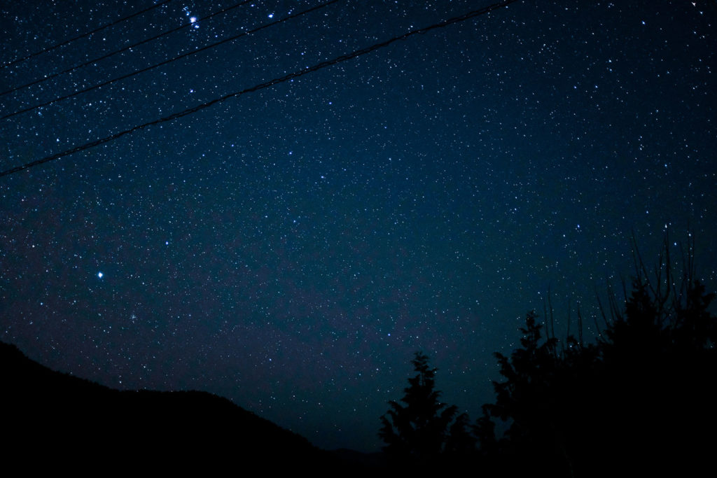 FUJIFILM X100Fで撮影した鶴姫公園の星空
